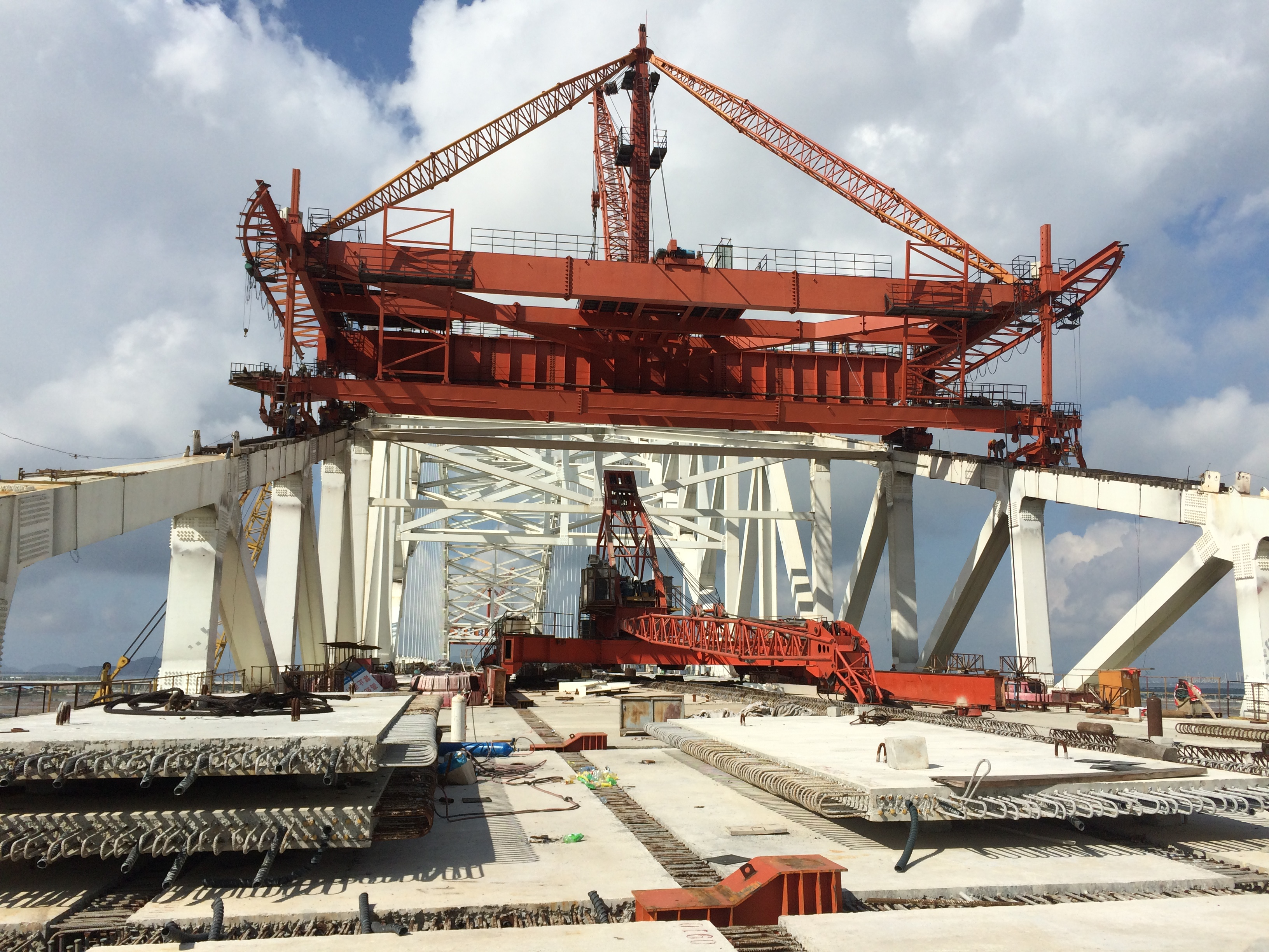 珠海横琴二桥施工现场